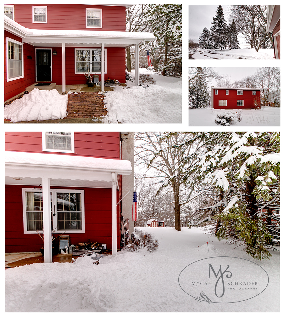 Red house collage for blog
