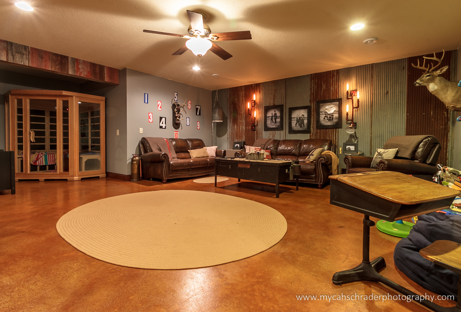Lower living room-